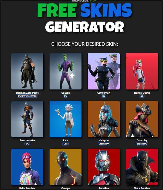 Free Skin Generator Fortnite
