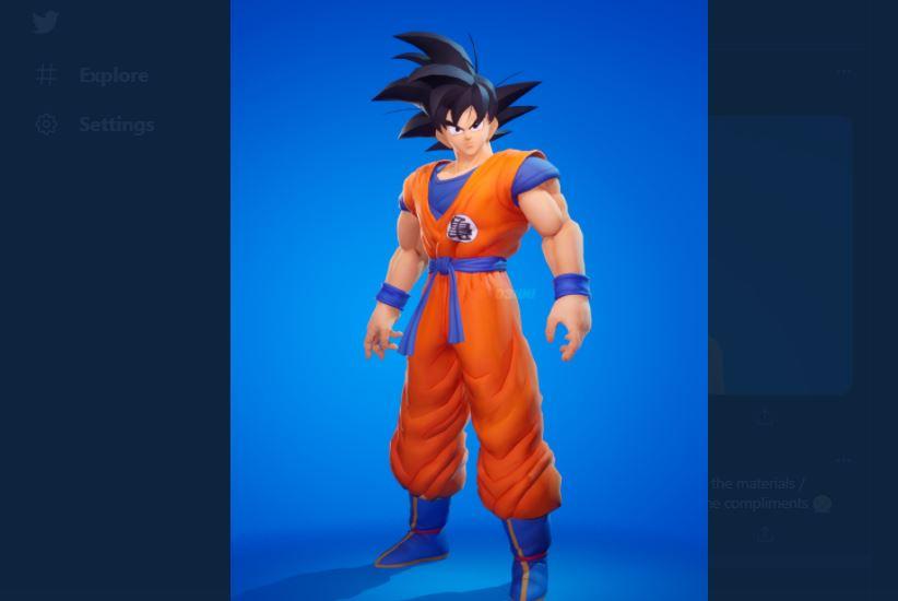 Goku Skin in Fortnite