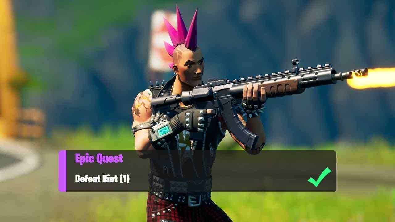 Defeat Riot in Fortnite