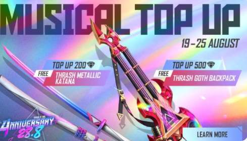 Garena Free Fire Musical Top-up Event