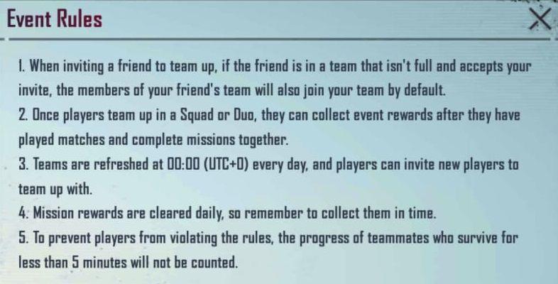 Dream Team Event Rules