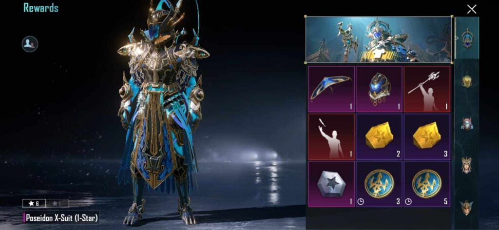 Poseidon X Suit in BGMI