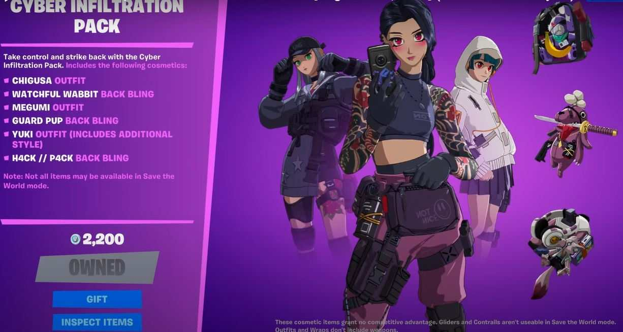cyber infiltration pack fortnite