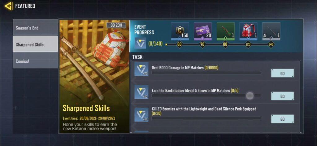 Sharpened Skills COD Mobile