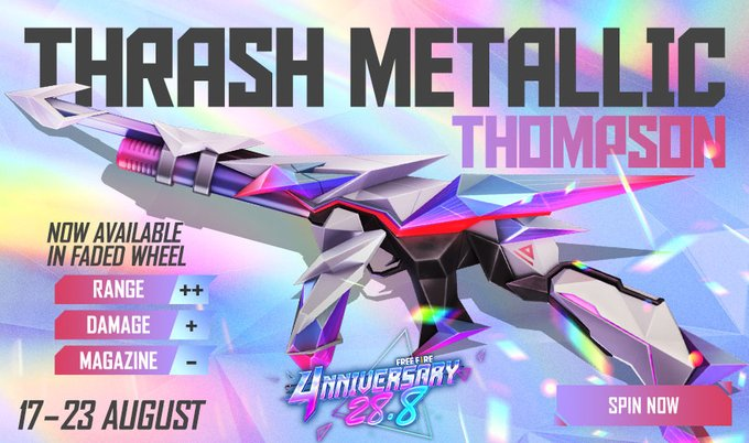 Thrash Metalic Thompson Free Fire
