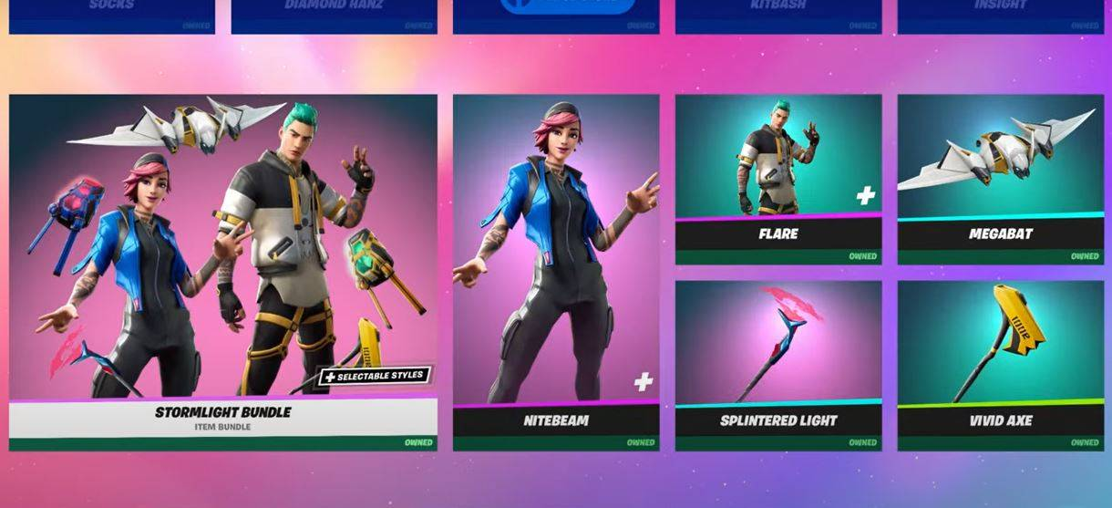 What is in the Fortnite item shop today