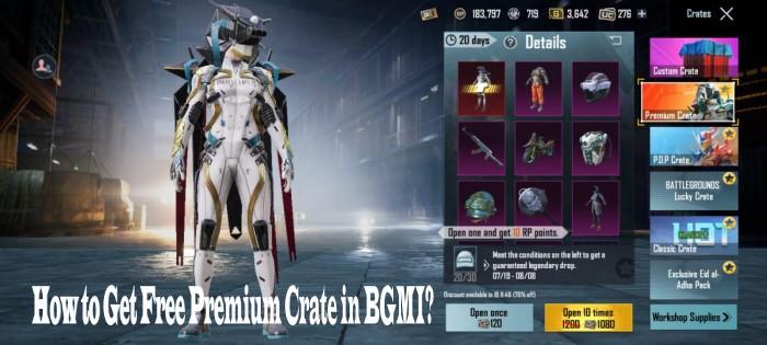 how to get free premium crate in bgmi
