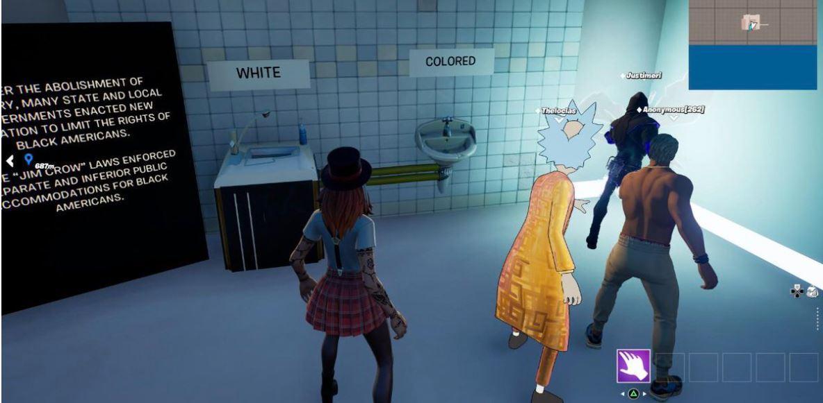 segregated bathroom fortnite