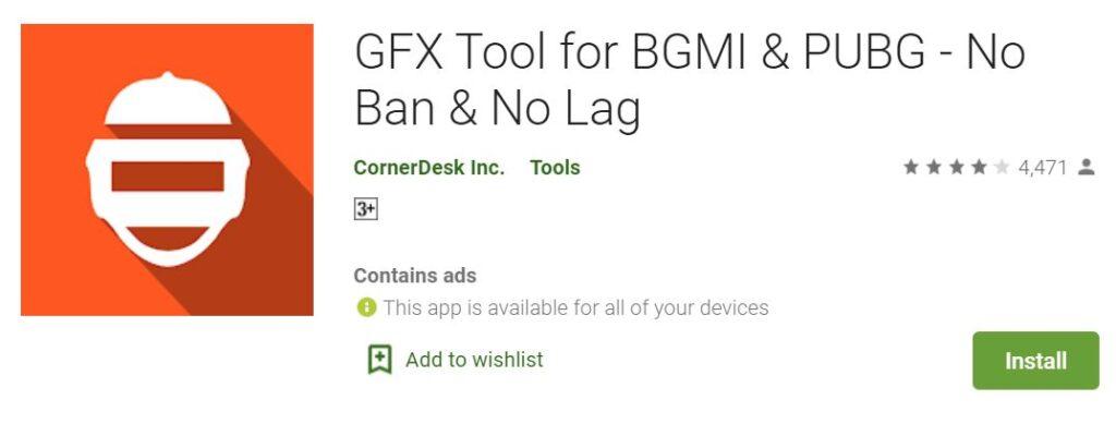 GFX Tool for BGMI: Fix Lag Issues Using GFX Tool