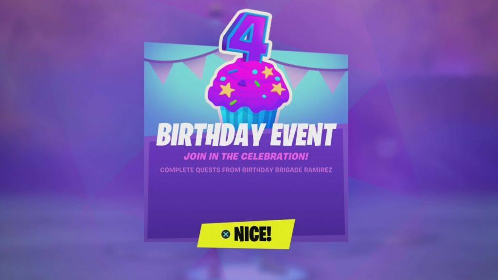 Fortnite's 4th Birthday Rewards