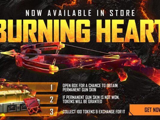 Burning Heart Crossbow Free fire
