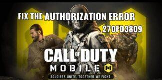 COD Mobile Authorization Error 270fd309