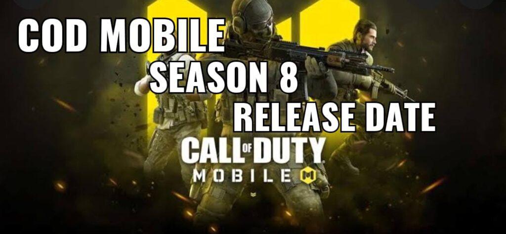 COD Mobile season 8 release date