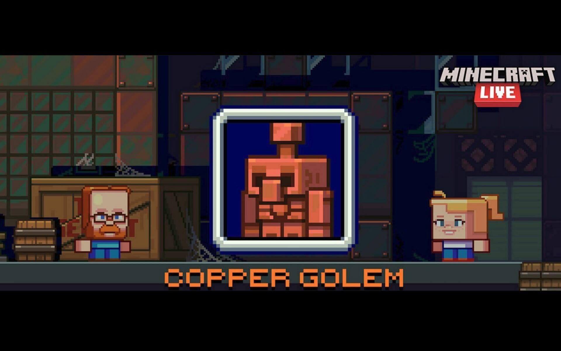 Copper Golem in Minecraft