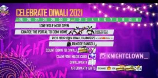 Event Shedule of Free Fire Diwali