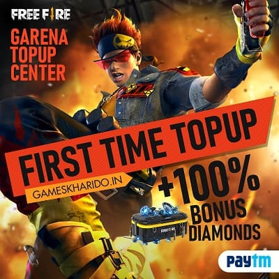Free Fire First Time Top up :gameskharido top up Free Fire diamonds