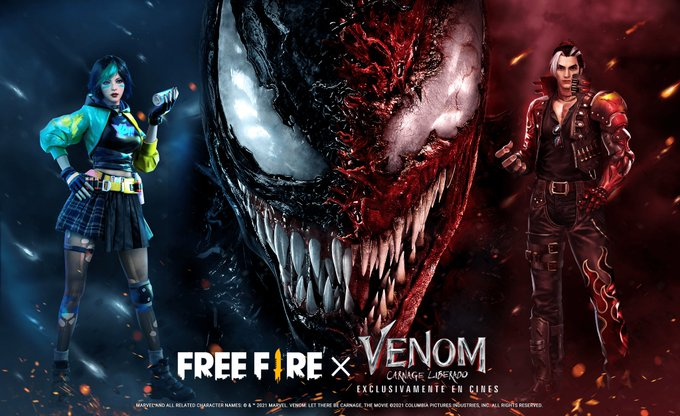 collaboration poster of Venom and Free Fire