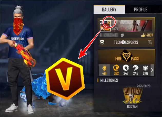 V Badge Free Fire
