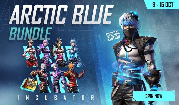 Arctic Blue Bundle Free Fire